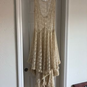 Free people sheer lace dress